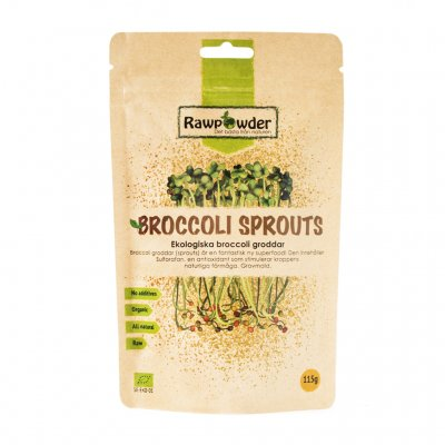 ekologisk broccoligroddar, sprouted