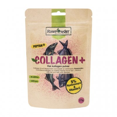 Fisk collagen plus med 5% hyaluronsyra och vitamin C