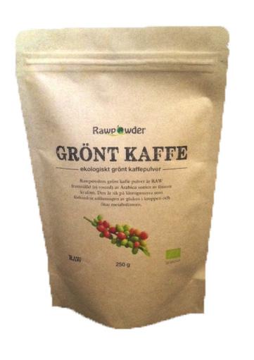 grönt kaffepulver